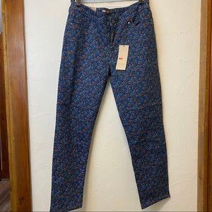 Levi's Flower Print Skinny Jeans